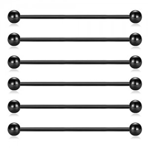 Vcmart 14 Surgical Steel 1 1/2 Inch Industrial Piercing Barbell and Classic Style Body Piercing Jewelry