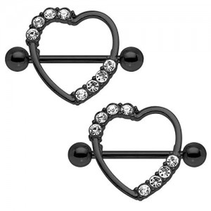 Vcmart 14G Nipplerings Nipple Rings Piercing Strainght Barbells Stainless Steel Jewelry for Women Girls 1 Pair