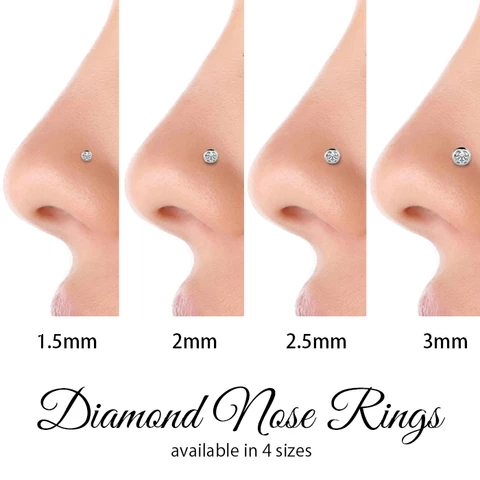 Diamond Nose Ring Size Chart