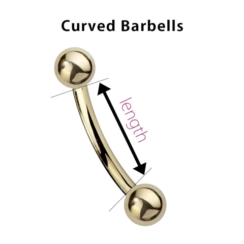 How to measure the length of curved barbells